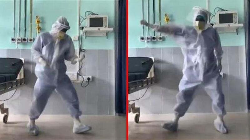 Hindistan'da koronavirüs yoğun bakımında doktorun dansı tepki çekti