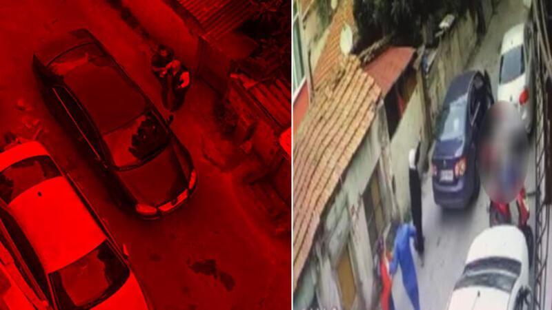 Beyoğlu'nda iki aile arasında çıkan silahlı çatışma kamerada