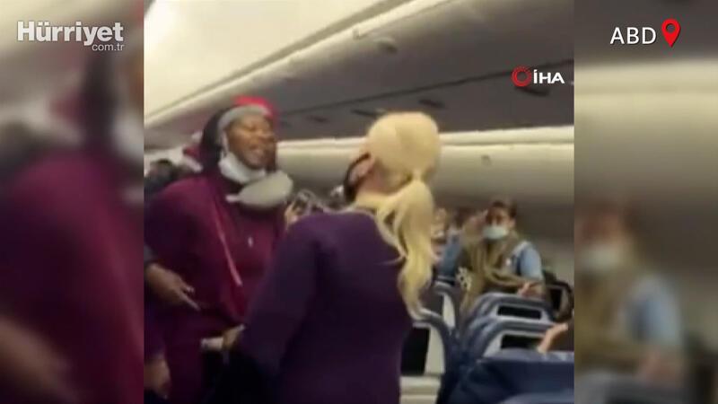 Uçakta maske takmadı, kabin görevlisine saldırdı!
