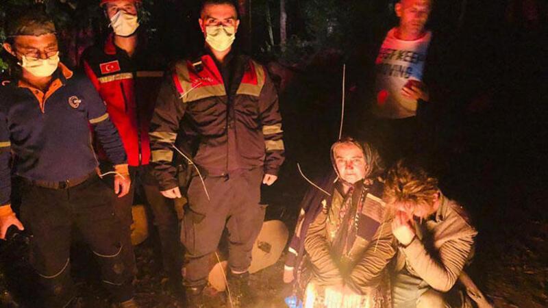 Düzce Kestane toplarken ormanda kaybolan kadın bulundu