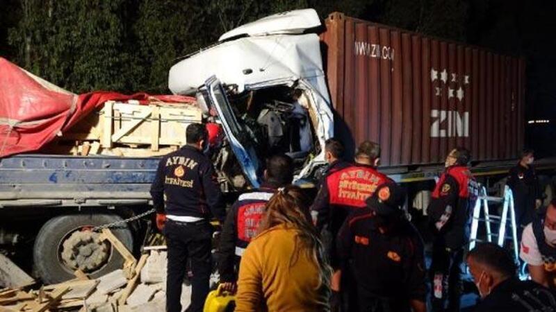 Mermer yüklü TIR'a arkadan çarptı, şoför hayatını kaybetti