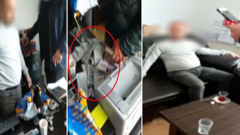 Mali müşavire rüşvet baskın anı kamerada