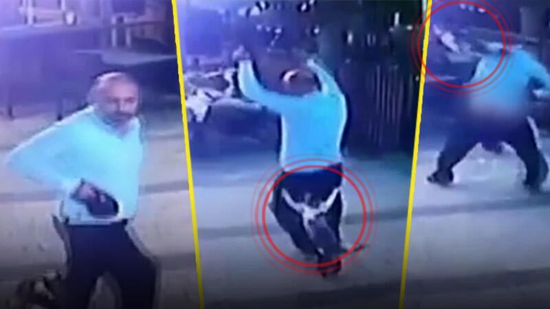 Köpeğiyle gezerken kedinin saldırısına uğrayan adam hayatının şokunu yaşadı