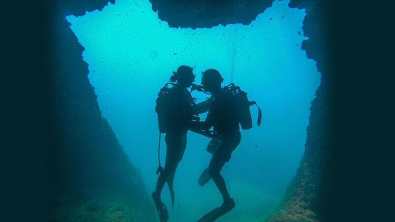 Antalya'da kalp şeklinde su altı mağarası