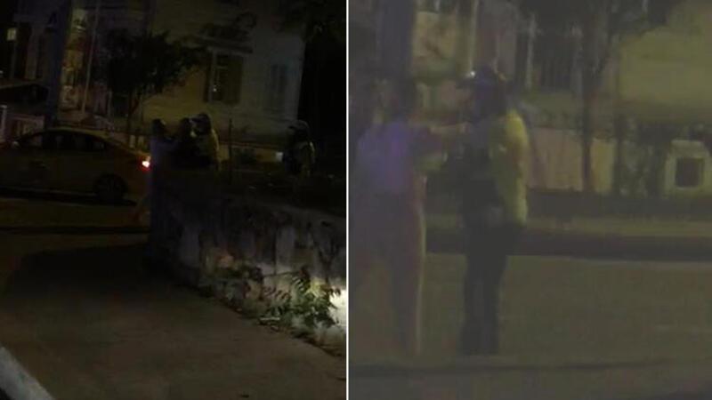 Kadıköy'de alkollü sürücü yüzünü tırmaladığı polise bardak fırlattı