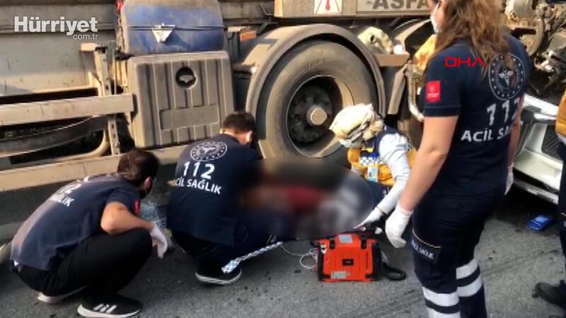 TEM Otoyolunda kaza, dorse altında tamirat yapan sürücü hayatını kaybetti