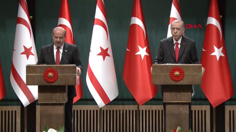 Cumhurbaşkanı Erdoğan ve Ersin Tatar'dan önemli açıklamalar
