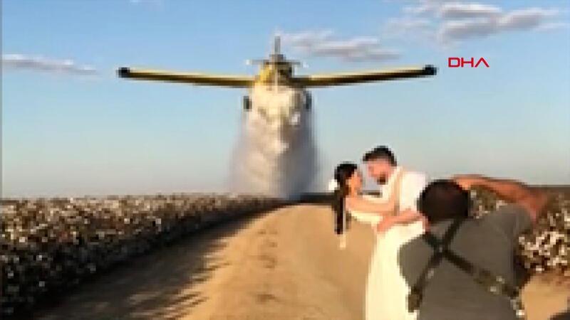 Brezilya'da ezber bozan düğün fotoğrafı çekimi