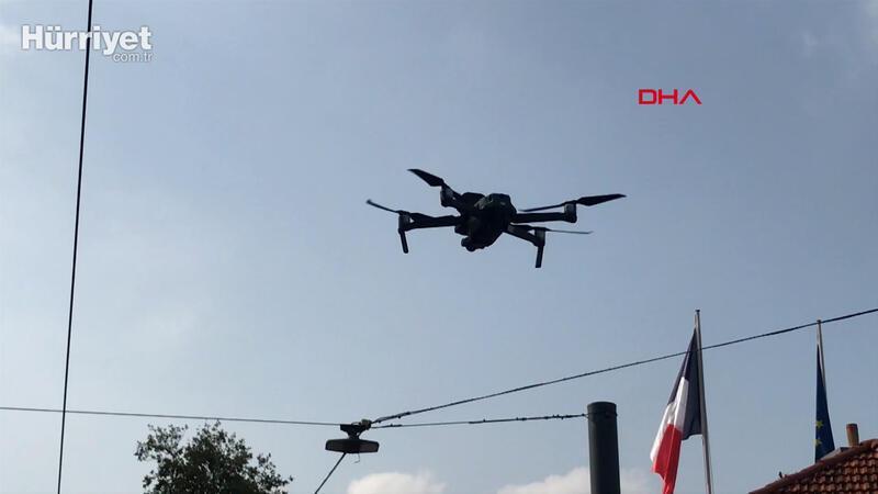 Taksim'de maske denetimi; Drone tespit etti polis ceza kesti