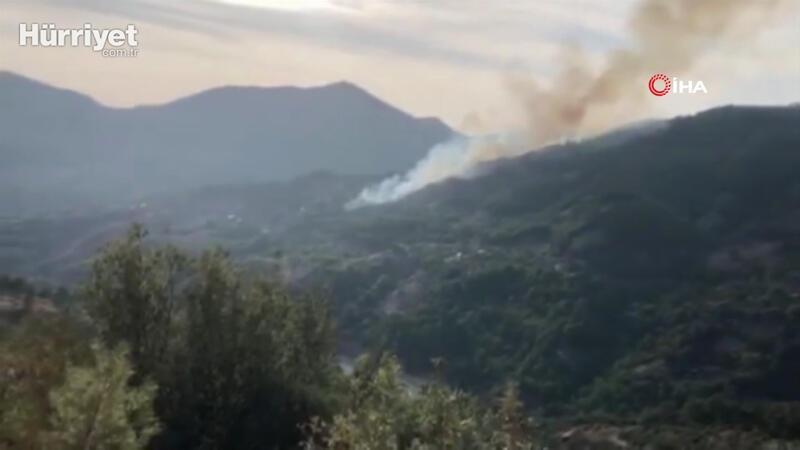 Son dakika haberler... Adana'nın Kozan ilçesinde orman yangını