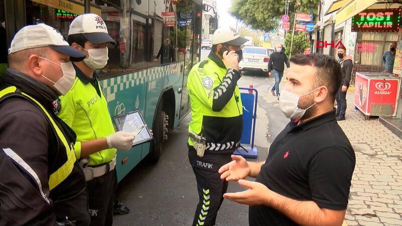Karantinada olması gereken şoför Beyoğlu'nda yolcu taşırken yakalandı
