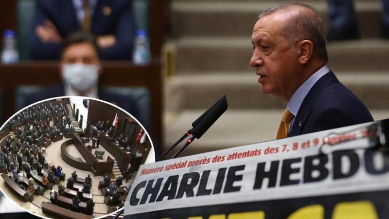 Son dakika haberi: Cumhurbaşkanı Erdoğan'dan Charlie Hebdo dergisinin alçak karikatürüyle ilgili sert tepki