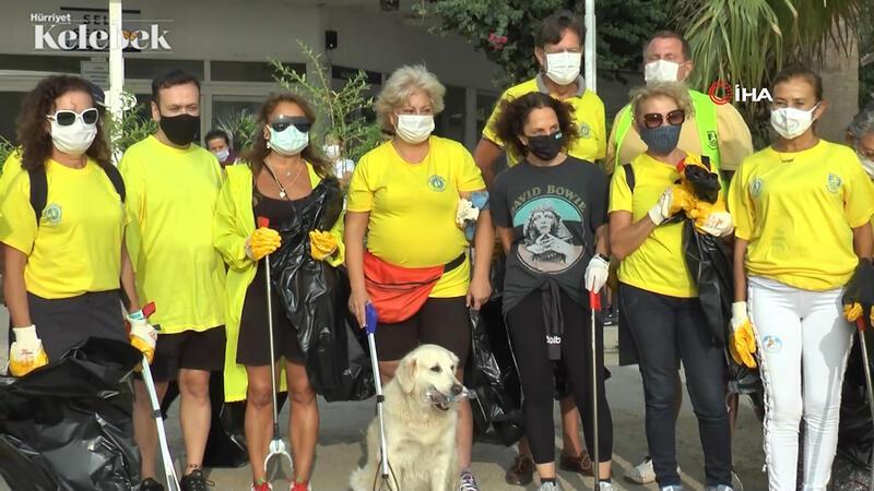 Sertab Erener ve Yonca Evcimik, Bodrum'da çöp topladı