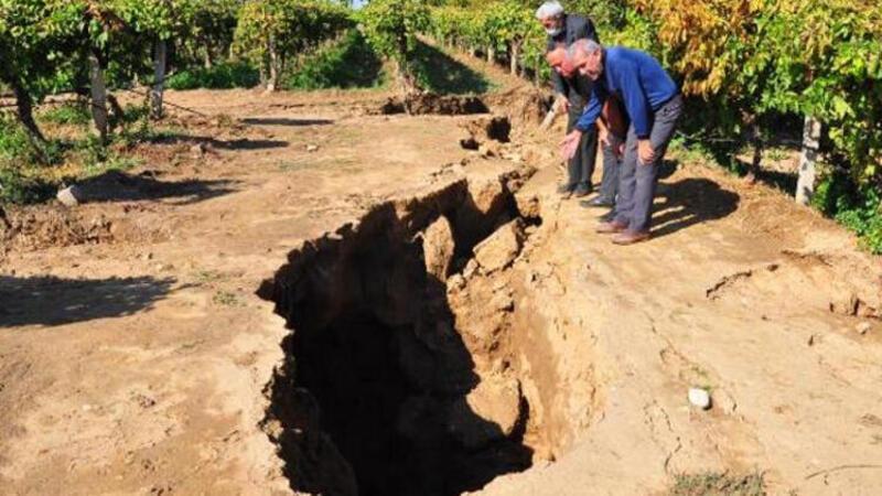Manisa'da Sarıgöl fay hattında bilim adamları incelemelerde bulundu