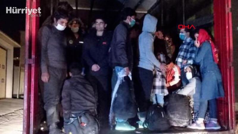 TIR'ın dorsesinde 210 kaçak göçmen yakalandı