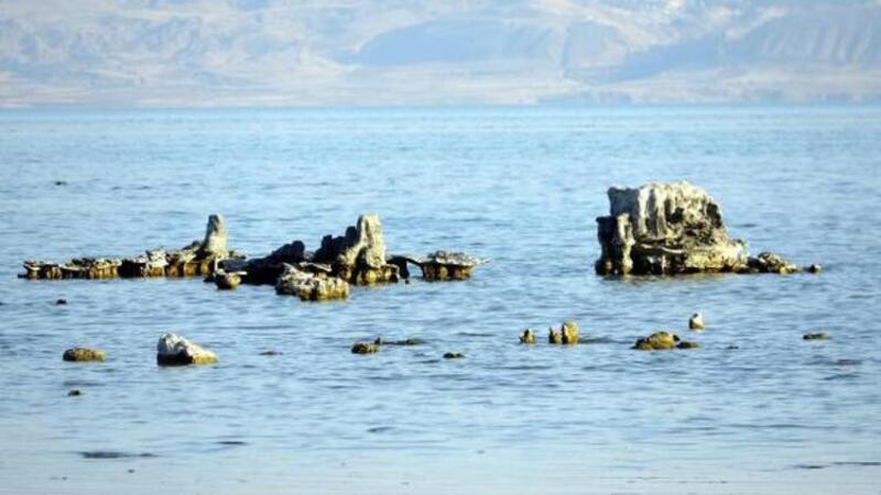 Van Gölü çekilince mikrobiyalitler su yüzüne çıktı