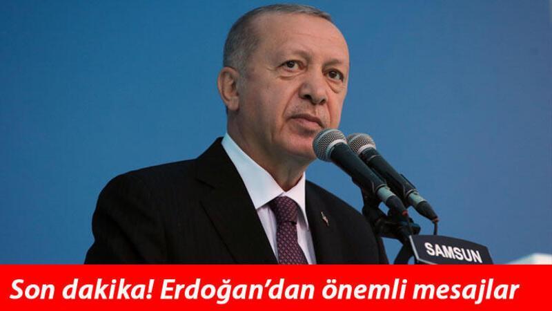Son dakika haberler... Cumhurbaşkanı Erdoğan'dan önemli açıklamalar