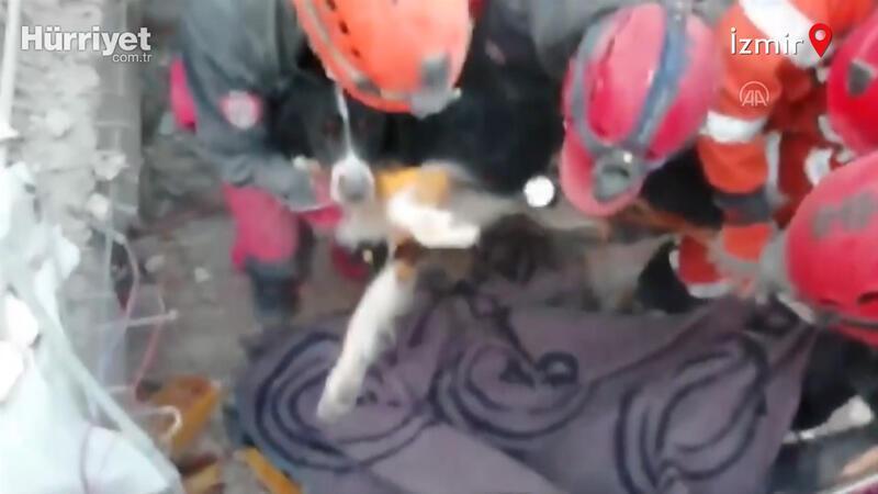 Depremde enkazdan kurtarılan Gizem, köpeği 'Ares'e kavuştu
