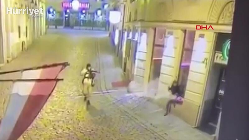 Viyana'daki silahlı saldırı güvenlik kamerasında