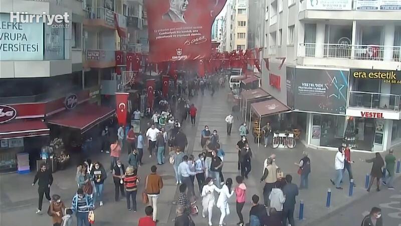 İzmir'deki deprem anı KGYS kameralarına yansıdı