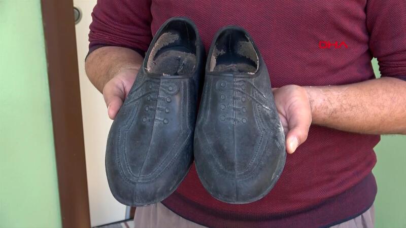 Aldığı ayakkabının yerine eskilerini 'Hakkını helal et' yazılı notla birlikte bıraktı