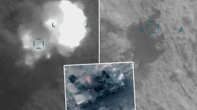 Azerbaycan ordusu Ermenistan'a ait uçaksavar sistemini böyle imha etti