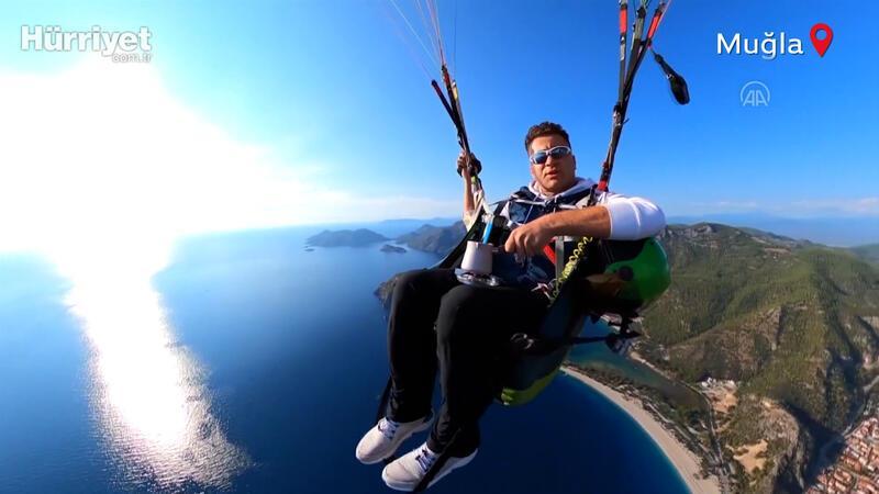 1500 metrede Türk kahvesi yaparak uçtu