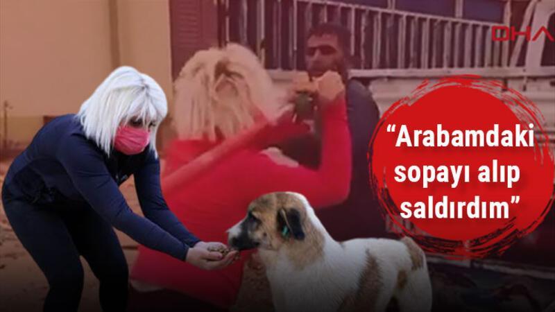 Hayvansever kadın köpeklerin mamalarını çalan kişiyi beyzbol sopasıyla dövdü