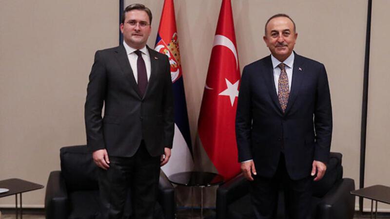 Bakan Çavuşoğlu, Sırp mevkidaşı Selakoviç ile bir araya geldi