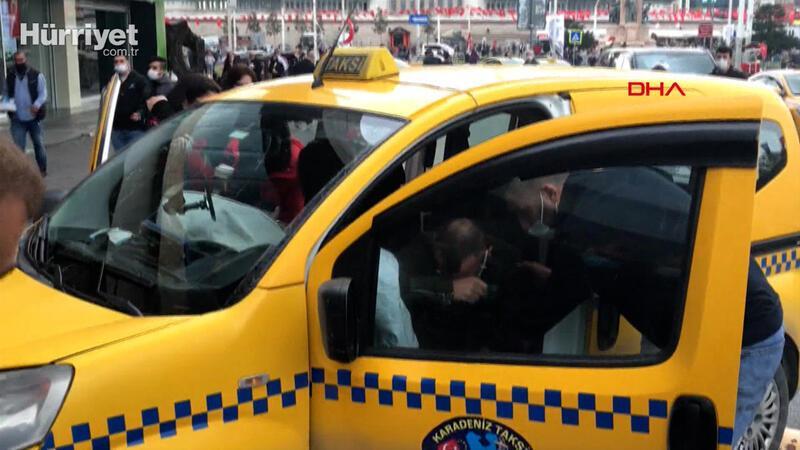 Taksim Meydanı'nda kaza; şoka girdiler