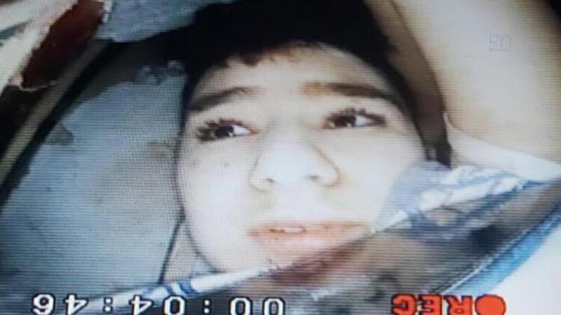 15 yaşındaki Günay Özışık'ın kurtarılma anı 'yılan kamera' ile görüntülendi