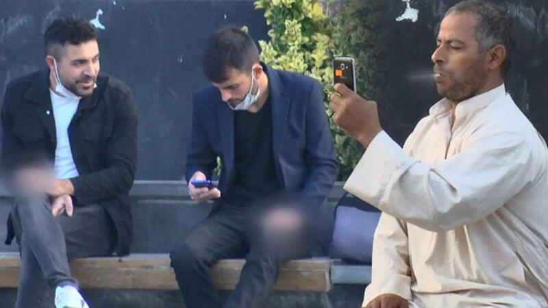 Esenyurt Meydanı'nda birçok kişi sigara yasağına uymadı