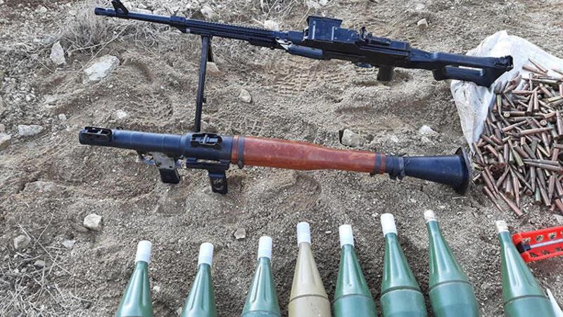 Van'da PKK'nın silah, mühimmat ve el bombaları ele geçirildi