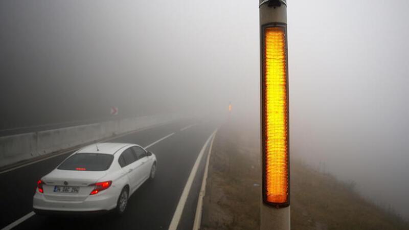 Bolu'da sağanak ve sis etkili oluyor