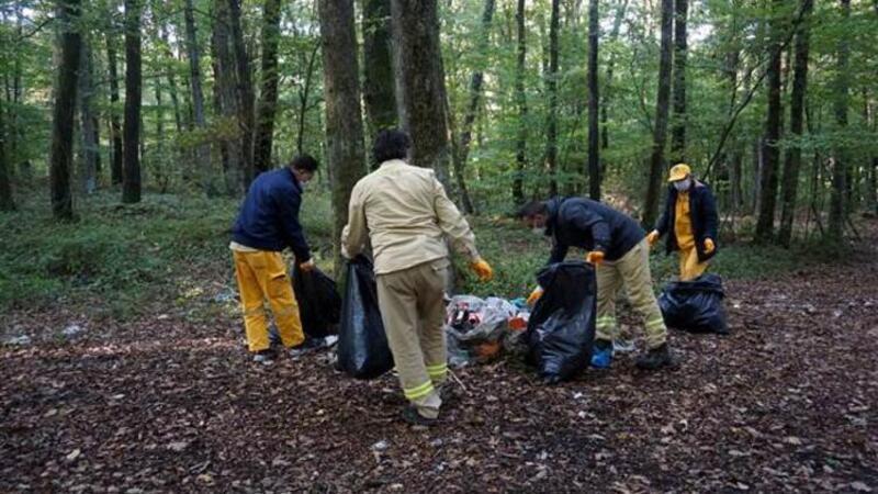 Belgrad Ormanı'nda piknik alanlarında 22, orman derinliklerinde 9 ton çöp toplandı