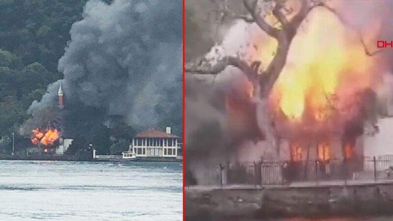 İstanbul Çengelköy'de Vaniköy Camisi'nde yangın çıktı