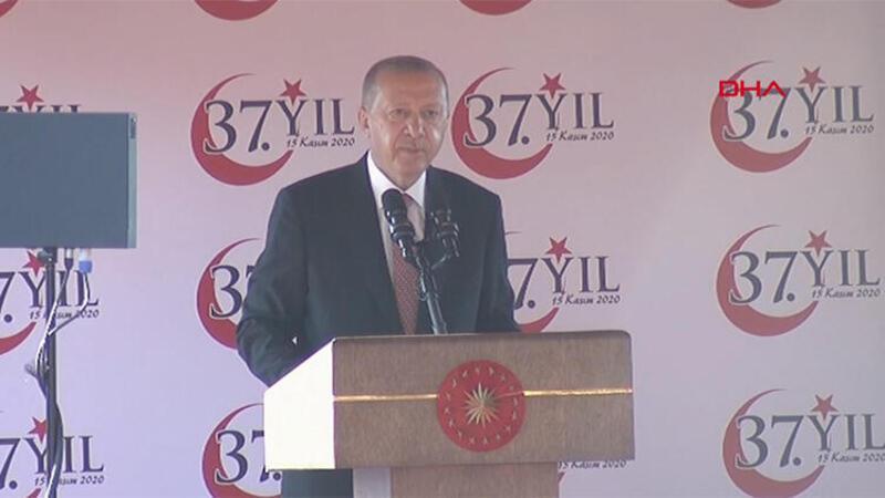 Cumhurbaşkanı Erdoğan, KKTC'nin 37. kuruluş yıldönümünde konuştu