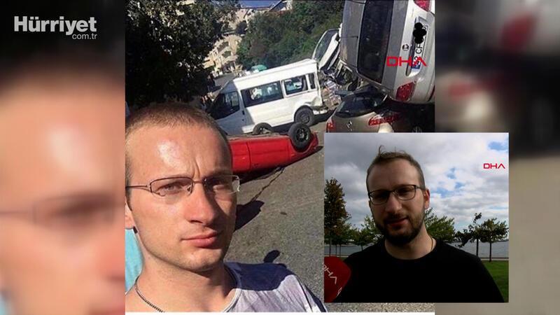 Kaza yapan araçlarla selfie hobisi oldu