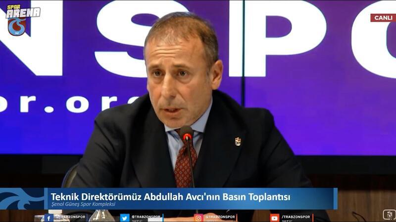 Abdullah Avcı: Trabzonspor teknik direktörü olduğumu hissettiriyorlar