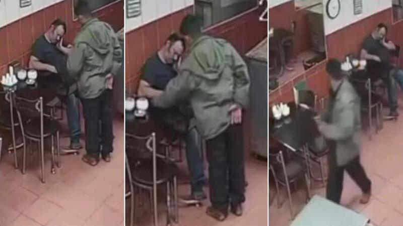 Sandalyede uyuya kalan pastane sahibinin telefonunu böyle çaldı