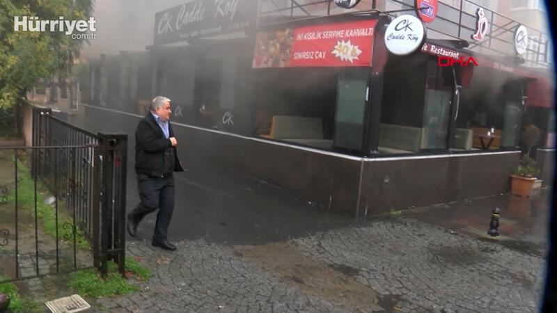 Ataşehir'de restoranda yangın, öğrenci yurdunda panik