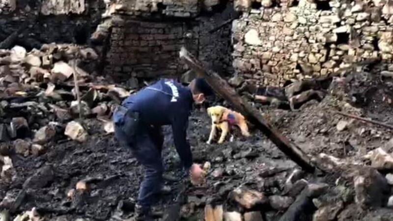 Yangının enkaz kaldırma çalışmasında yaşlı kadının cansız bedenine ulaşıldı