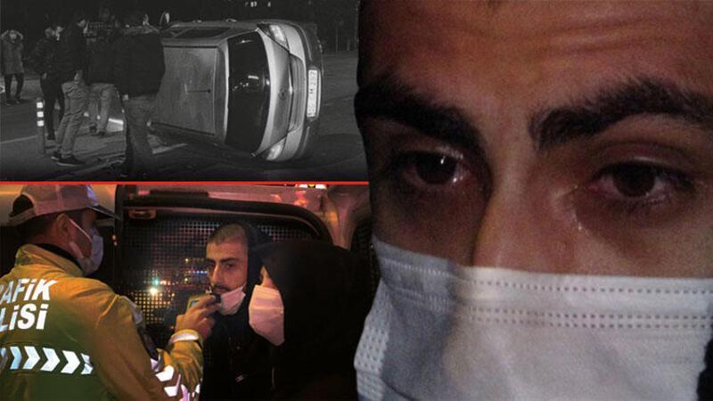 Takla atıp yan yatan otomobilin alkollü sürücüsü: Hiçbir şeye sap olamadım