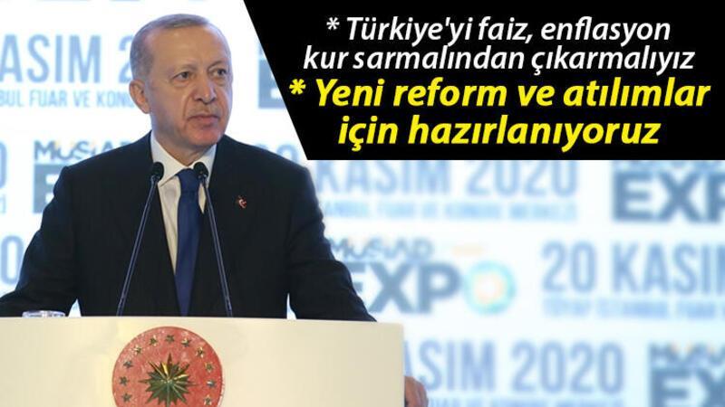 Son dakika... Cumhurbaşkanı Erdoğan'dan faiz açıklaması: Türkiye'yi faiz, enflasyon, kur sarmalından çıkarmalıyız