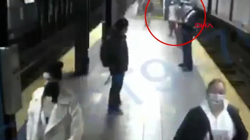 ABD'de tren bekleyen yolcu, kadını raylara itti