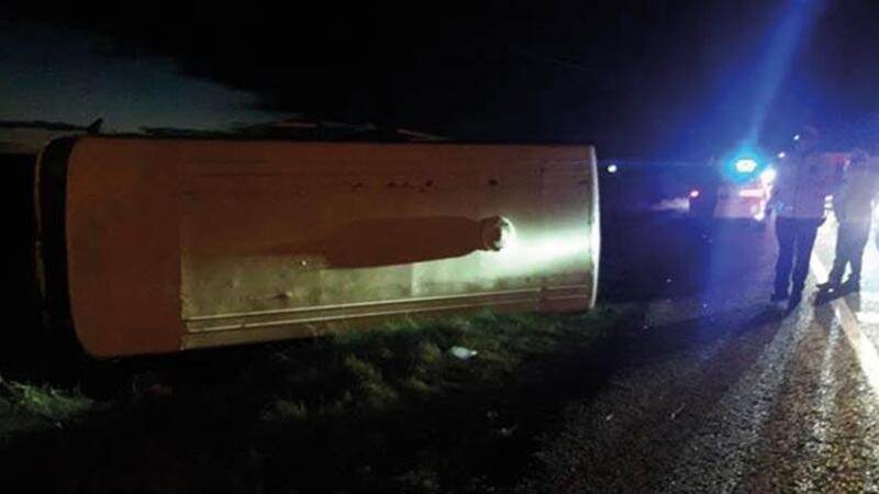 Tekirdağ'da minibüs devrildi: 2 yaralı