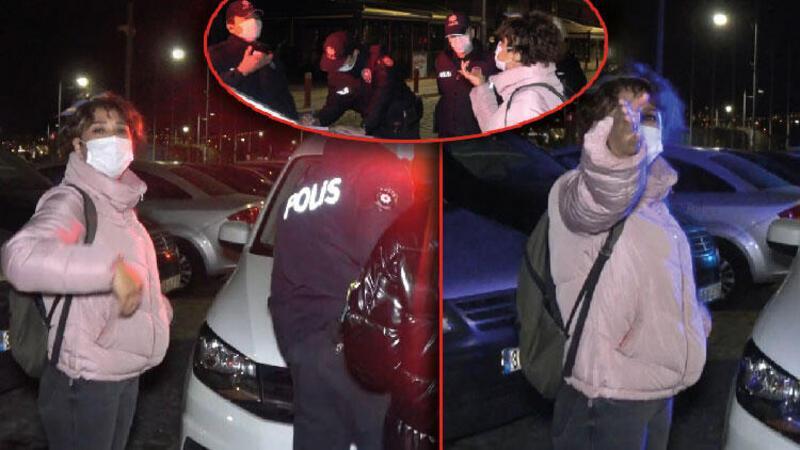Maske denetimi yapan polise tepki gösterdi: 'Ne sanıyorlar bunlar kendini' dedi
