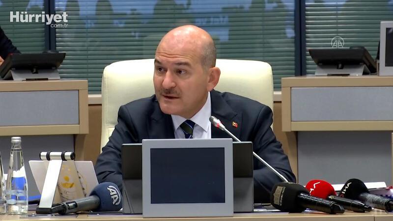İçişleri Bakanı Soylu, AFAD çalışma grupları toplantısında konuştu