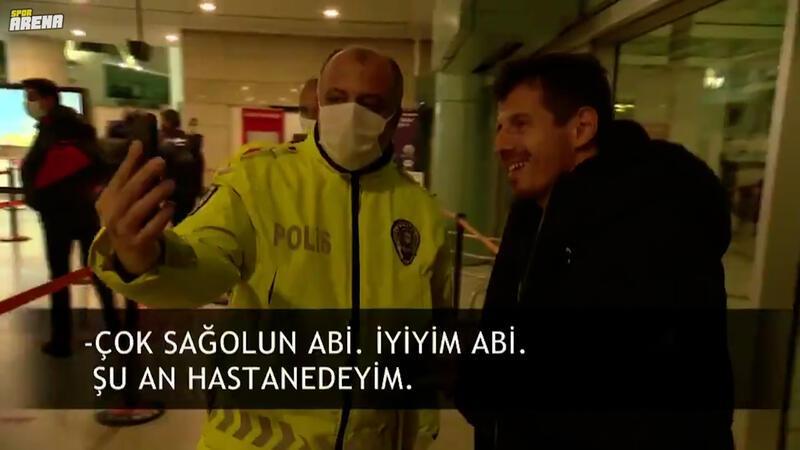 Emre Belözoğlu hastanede tedavi gören genç hayranına moral verdi