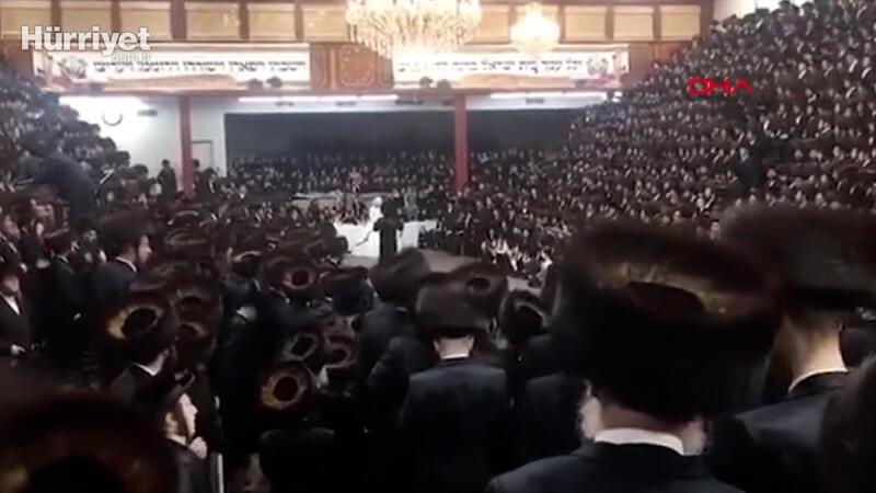 ABD'de sinagogda düzenlenen 7 bin kişilik düğüne tepki